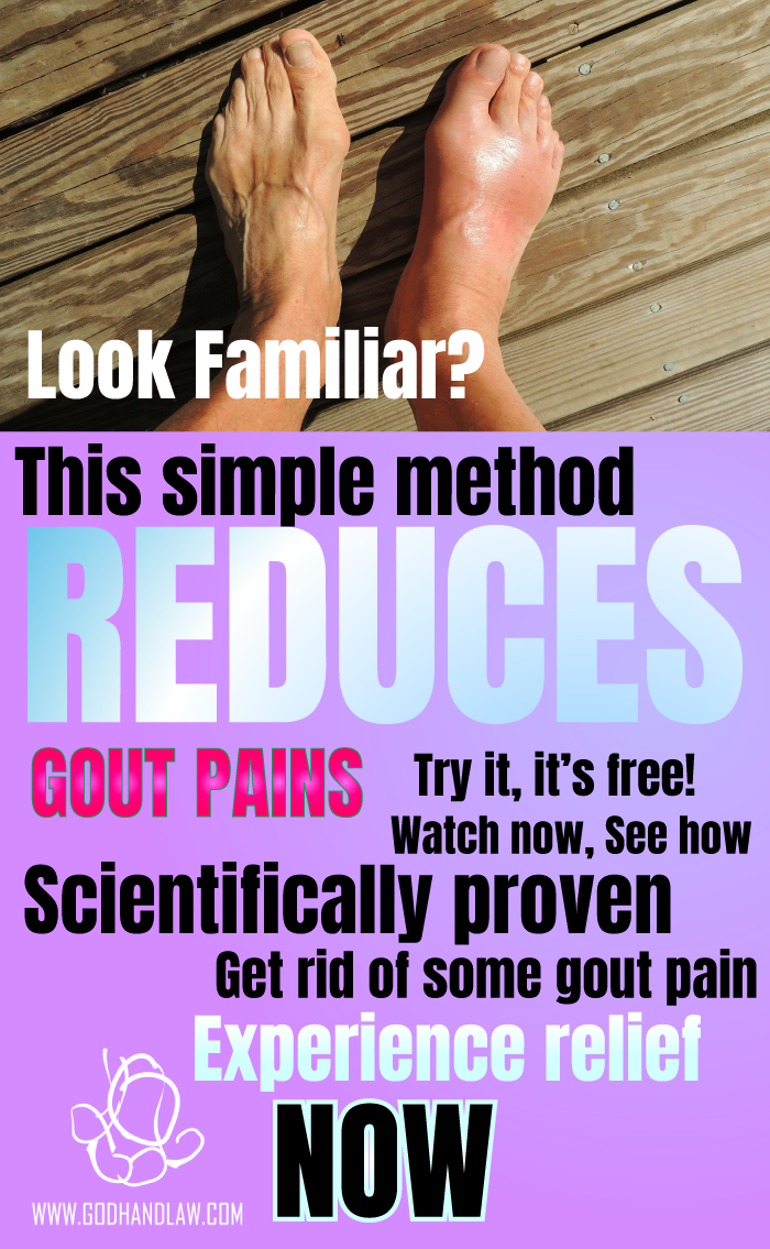 gout relief gout pain reduce