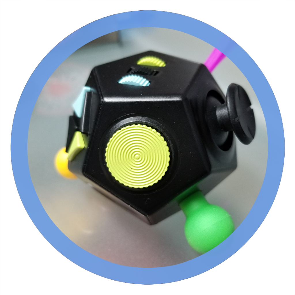 12 sided fidget cube - Rotating Disk