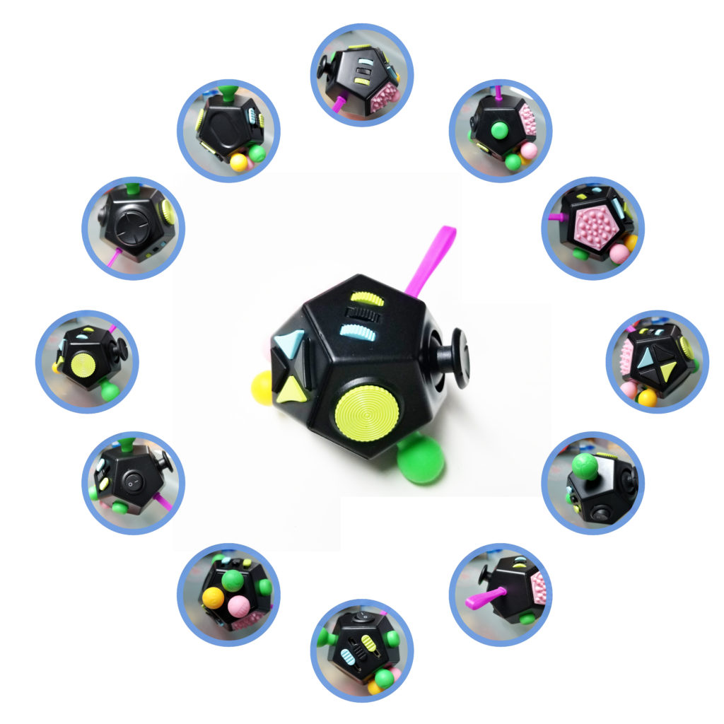 12 sided fidget cube for Universal Laws
