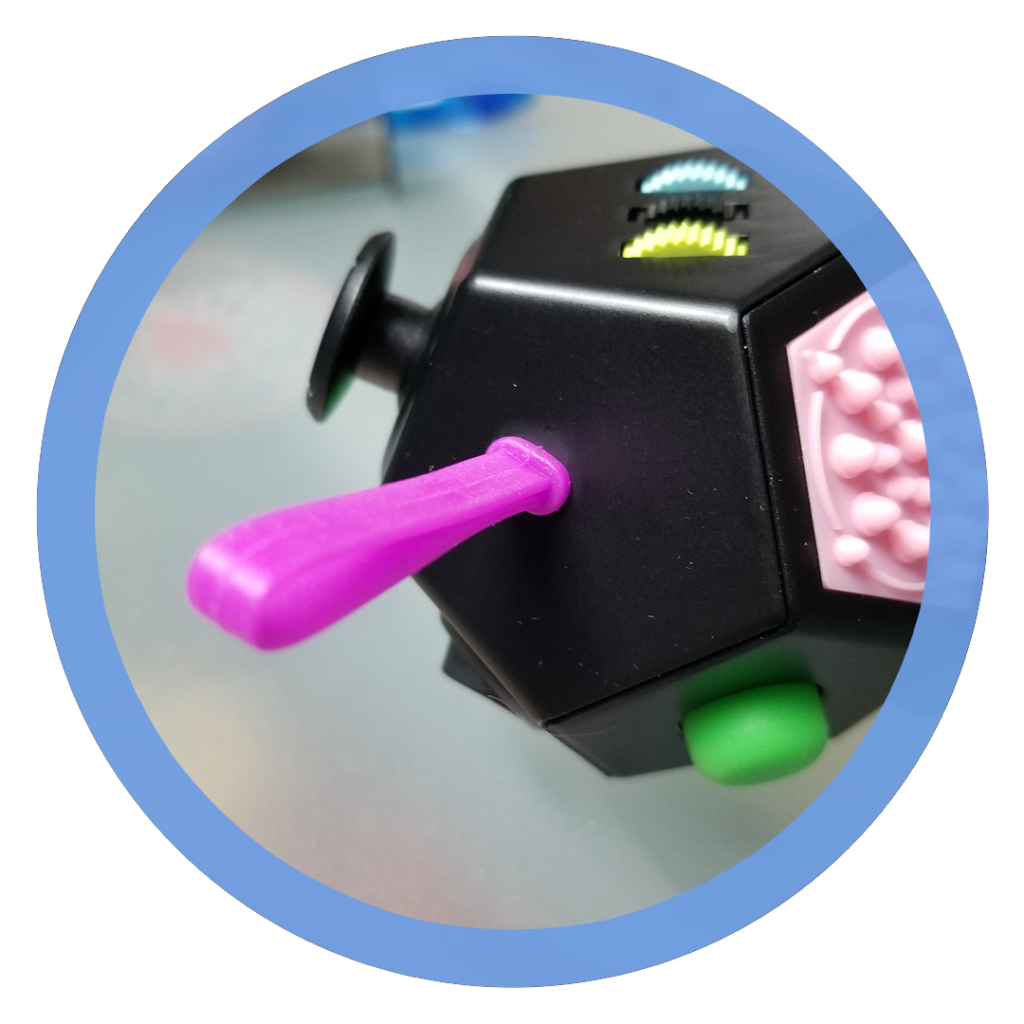 12 sided fidget cube - Silicone Rope